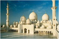 Architectural Model of the Sheikh Zayed Mosque in AbuDhabi / UAE