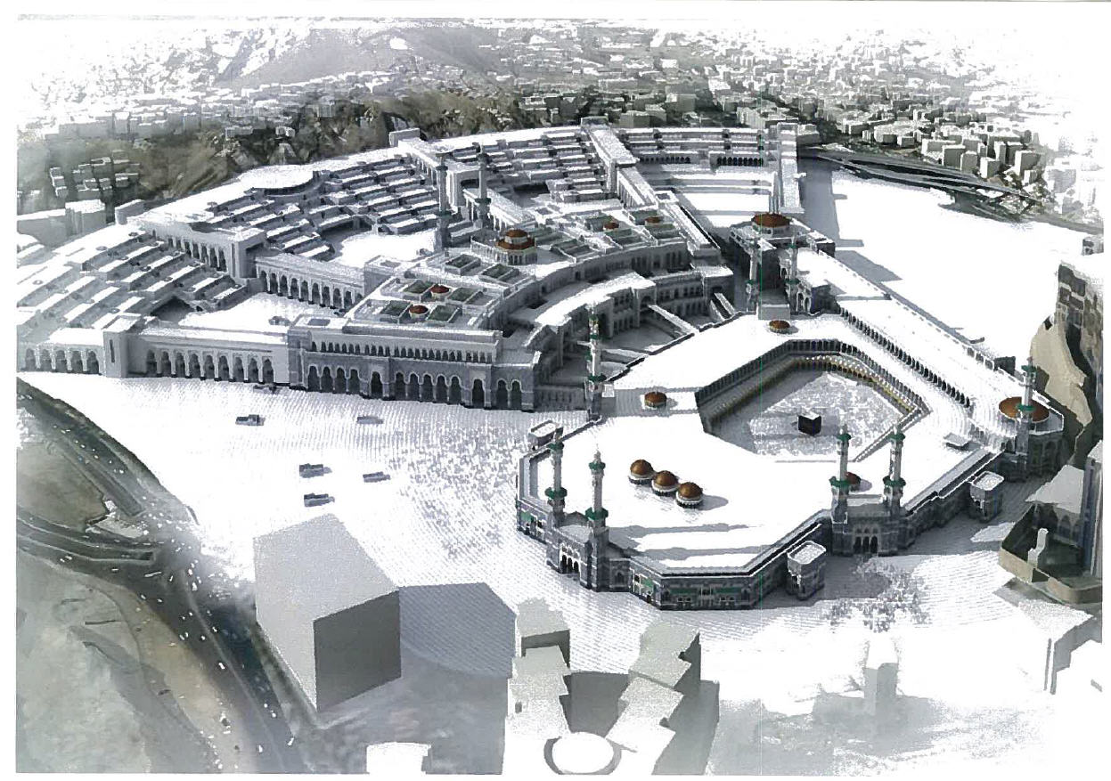 Architectural Modeö of Holy Haram expansion in Makkah, Saudi Arabia