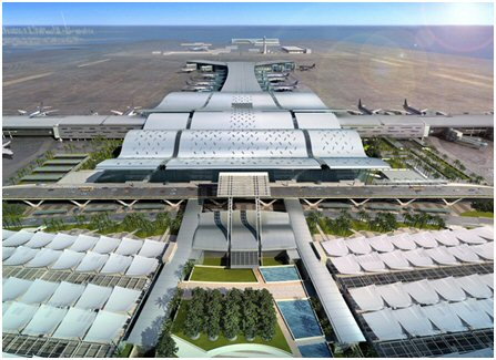 Terminals of the new International Airport in Doha / Qatar