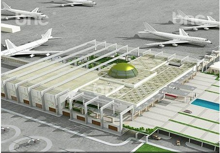 Rendered model of the presidential airport in Abu Dhabi /UAE  -  Room and Building Acoustics & Noise  and Vibration Control